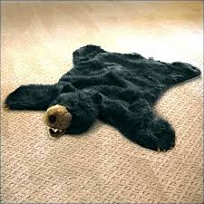 fake bear skin rug pattern faux rugs for