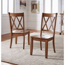 Weston Home Farmhouse Dining Chair with Cross Back (Set of 2) - Walmart.com 2