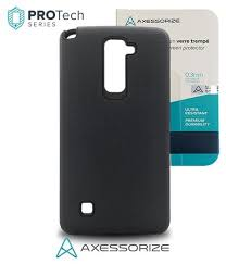 lg stylo 2 cases. combo axessorize protech case lg stylo 2 plus black +tempered glass lg cases