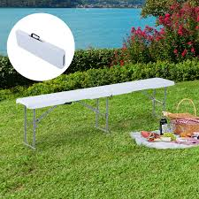 cad 68 99 outsunny 6 long folding bench outdoor camping picnic garden party seat 6ft canada 46655326959