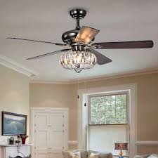 outstanding ceiling fan with chandelier crystal you ll love wayfair 52 laivai 5 blade light kit