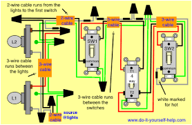 3 way and 4 way wiring diagrams with multiple lights do it 3 way switch wiring diagram power at light at 3 Way Switch Multiple Lights Wiring Diagram