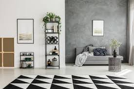 interior home decorating in black and white