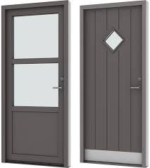 velfac ribo access doors entrance doors in wood aluminium