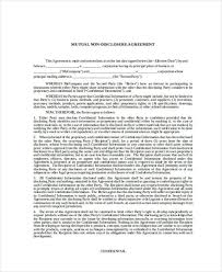 Mutual Confidentiality Agreement 100 Confidentiality Agreement Form Free Documents in Word PDF 52
