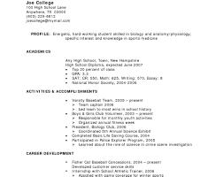 Resume Resume For High School Student Superior Good Resume For