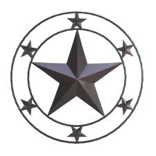 Metal Star Wall Decor Rustic Metal Texas Star Western Wall Decor Home Decor