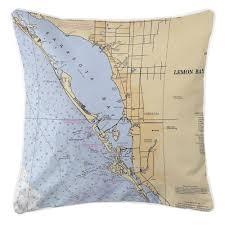 Sarasota Bay Nautical Chart Island Girl Fl Sarasota Fl Nautical Chart Pillow