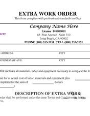Extra Work Order Template 11 Best Photos Of Additional Work Order Forms Additional