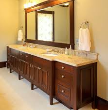 undermount bathroom double sink. Delightful Bathroom Decoration Ideas Using Mahogany Wood Lowes Vanity Along With Cream Marble Tops And Round White Double Undermount Sink