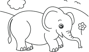 Baby Elephant Coloring Pages Free Baby Elephant Coloring Pages