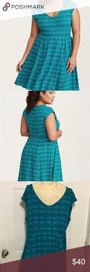 Torrid Teal Blue Green Geo Print Dress Size 4 26 Torrid Geo