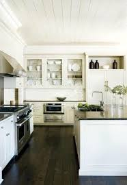 White Kitchens With Dark Wood Floors 35 Striking White Kitchens With Dark Wood Floors Pictures Homes