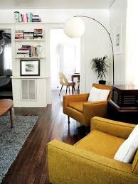 the clean lines of mid century style furniture make it perfect for smaller living es via apartment therapy