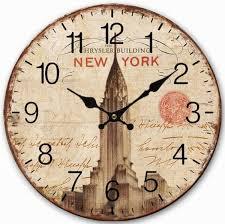 vintage style clock. Wonderful Style Retro Vintage Style Large Clock New York Chrysler Building Home Decorative  Wall Wood 34CMin Clocks From U0026 Garden On Aliexpresscom  On A