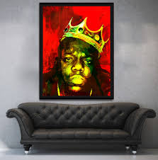 biggie smalls notorious big luke cage canvas wall art with wood black frame on big framed wall art with biggie smalls notorious big luke cage canvas wall art with wood bla