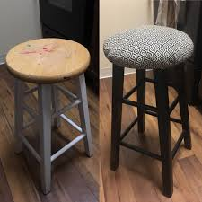 up cycled two free barstools for less than 10