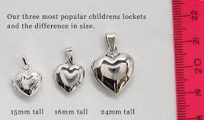 locket size photos buy mini silver engraved childrens heart locket for 15 99 uneak