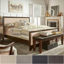 Oliver Upholstered Panel Dark Walnut Wood Bed by iNSPIRE Q Classic - Free  Shipping Today - Overstock.com - 17265349