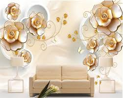 Beibehang Moderne Romantische Bloemen Rose Foto Muurschildering 3d