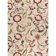 8 x 10 large ivory red and gold area rug laa rc willey furniture