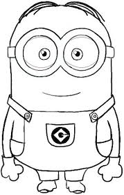 Minion Coloring Pages Birthday Parties Drawings Minion Coloring