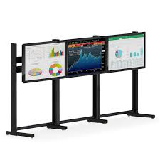 Flat Screen Display Stand Triple Flat Screen Monitor Stand afcindustries 19
