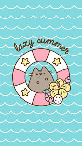 Summer Ipad Pusheen Wallpaper