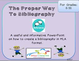 Proper Bibliography The Proper Way To Bibliography By Gifted And Talented