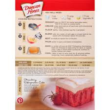 3 Pack Duncan Hines Moist Deluxe Strawberry Supreme Cake Mix 1825