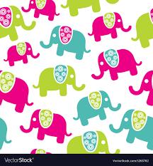 Elephant Pattern Stunning Seamless Retro Elephant Pattern Royalty Free Vector Image
