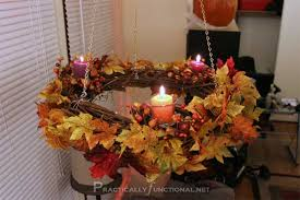 if you have the time and skills this diy chandelier is a great fall decor