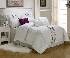 great king bedding sets clearance with beautiful purple decorative pillow and pure ring bearer pillows
