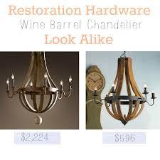 wine barrel lighting. Restoration Hardware Wine Barrel Look Alike Lighting
