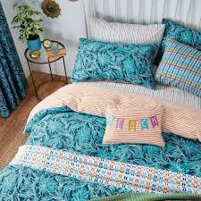 oasis bright blue fl bed linen