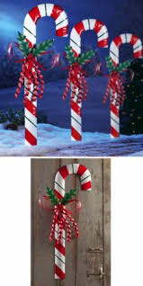 Outdoor Christmas Decorations Candy Canes Amazon Barcana 60Inch Illuminated Fiberglass Gingerbread 52