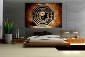 wall art ideas design zen contemporary yin yang brown square rectangle home grey beige simple bedroom  on wooden yin yang wall art with wall art ideas design printable paper yin yang wall art pages