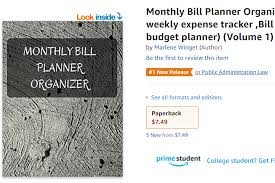 Hot New Release Monthly Bill Planner Organizer With
