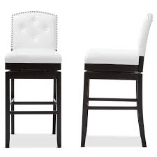 Baxton Studio Ginaro Modern And Contemporary White Faux Leather