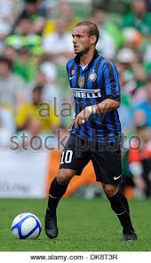 Wesley Schneider of Inter Milan ..Dublin Super Cup..Internazionale v Stock  Photo - Alamy