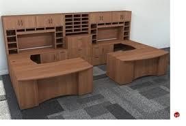 2 person office furniture. Peblo Person Shape Bowfront Office Desk WorkstationOverhead Storage In Furniture