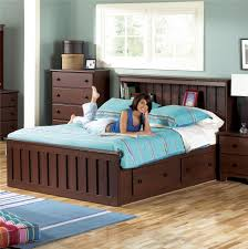 Lang Shaker King Bookcase Bed with Under Bed Drawer Storage & Interior  Lighting - AHFA - Bookcase Bed Dealer Locator