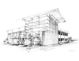 architecture sketches. beautiful building design sketches with pencil sketch of architectural concept for the entry area an architecture