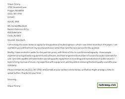 Audio Resume Audio Engineer Cover Letter Resume 2 Handplane Goodness
