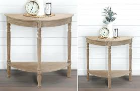 reclaimed wood half round console table rustic farmhouse decor round console table console table with storage drawers