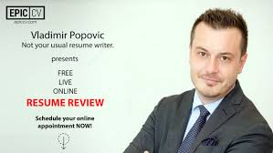 live resume review vladimir popovic from epic cv epic cv