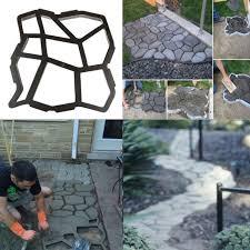 driveway paving mold concrete garden walk path maker stepping stone mould
