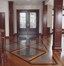 Tile And Hardwood Floor Designs With Modern Hardwood Floor Hallway