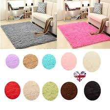 details about uk large small gy floor rugs plain soft sparkle area mat thick pile glitter