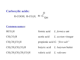 ch3co2h carboxylic acids